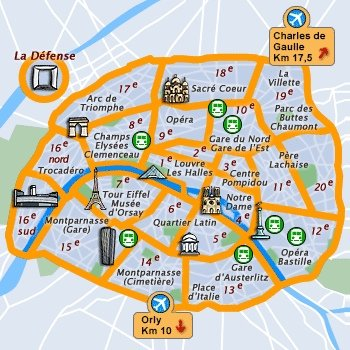 Paris Neighborhoods Map | compressportnederland