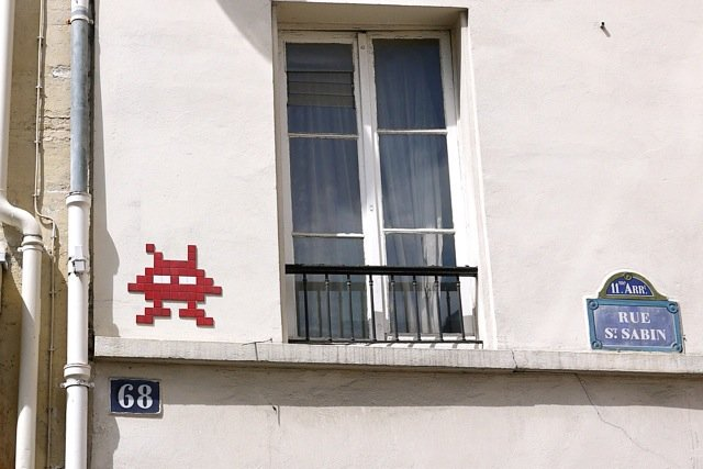 Chasse aux tresors Invader pixel art