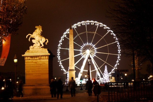 Paris Christmas Ferris Wheel