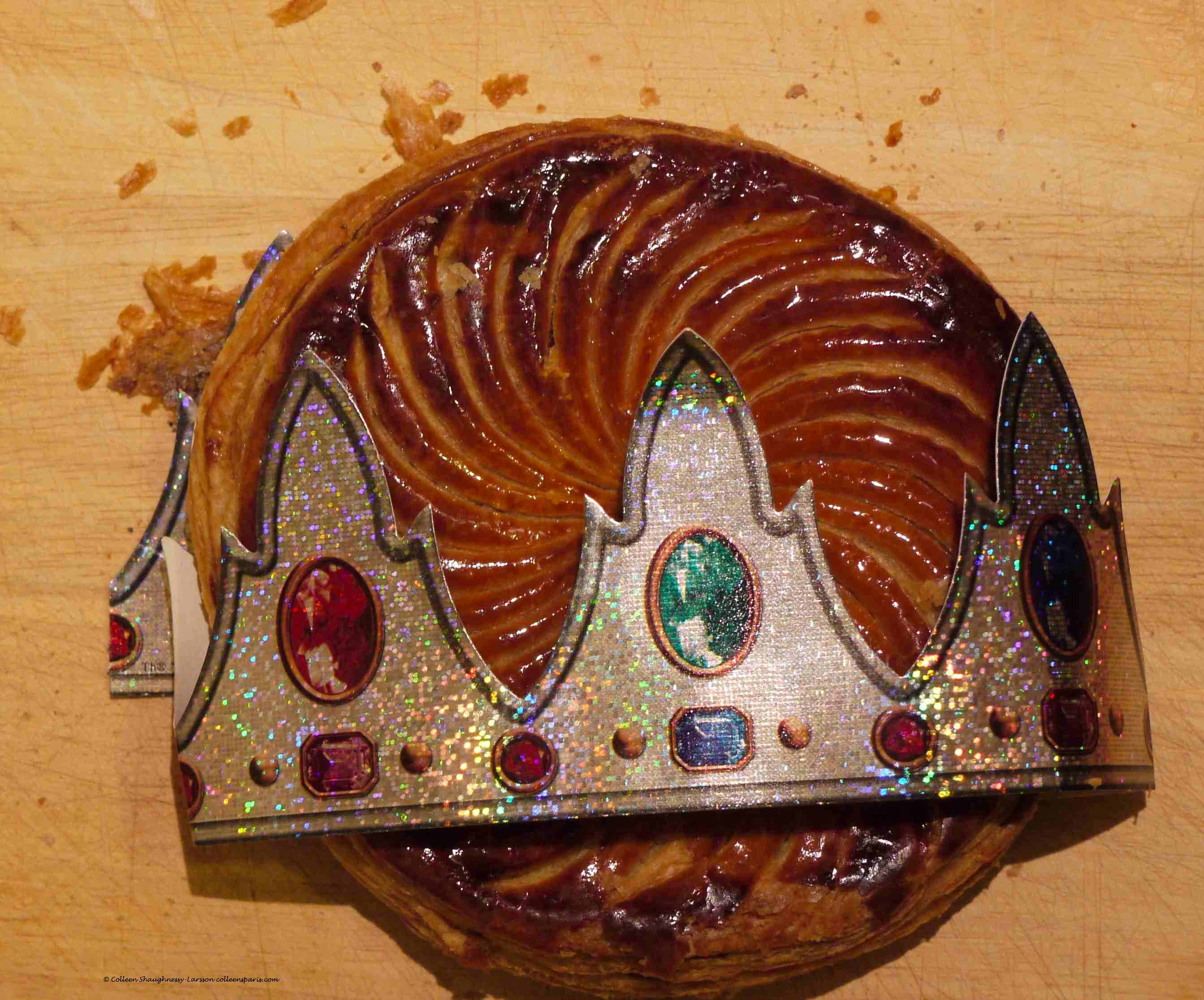 Galette des Rois with crown