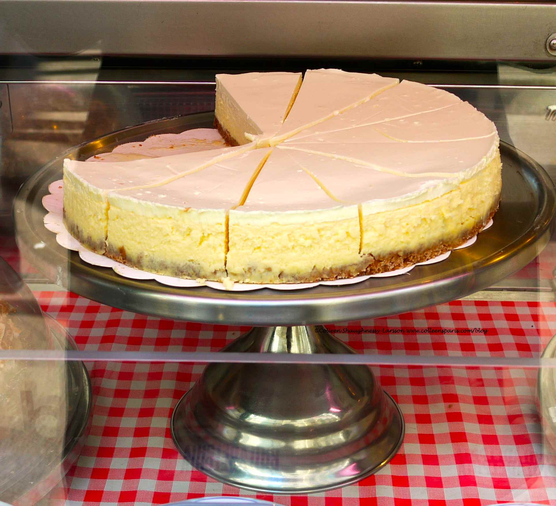 cheesecake from Schwartz's Deli with Philadelphia Cream Cheese