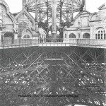 Pavillons 1900, buildings on first level, Eiffel Tower