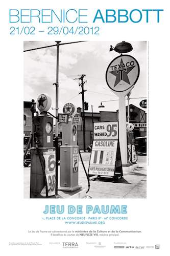 Poster for Berenice Abbott exhibit, Jeu de Paume 2012
