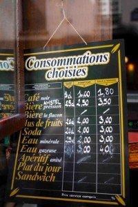 Paris cafés & bars where coffee is one euro