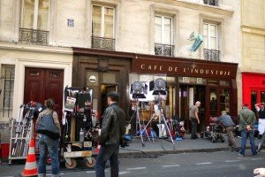 A popular movie location at Cafés de l'Indusrie, Bastille