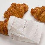 """Photo taken by Bouchon of Pierre Herme's croissants for the Figaroscope article """"Les meilleurs croissants de Paris"""""""