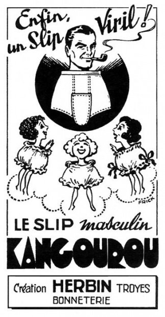 Kangourou Publicité pour le slip Kangourou, 1948 Collection particulière _ © DR