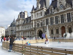 Ice skating until beginning of March at Hotel de Ville plaza in the sunshine