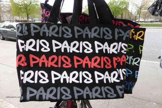 Paris souvenir shopping bag at Trocadero