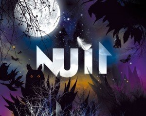 Poster of Nuit (Night) exhibition at the Grande Galerie de l'Évolution, MNHN