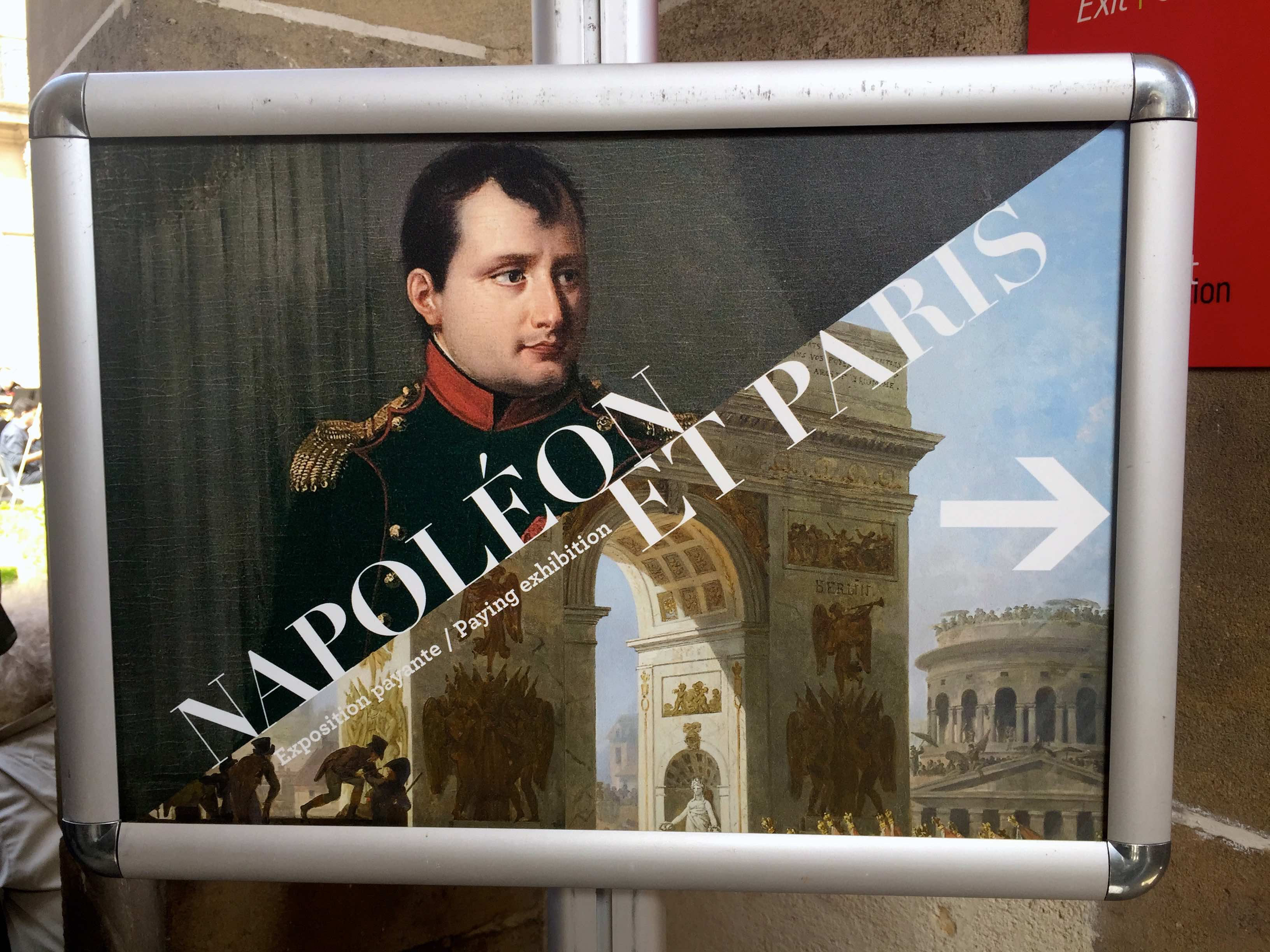 Entrance poster for Napoléon et Paris