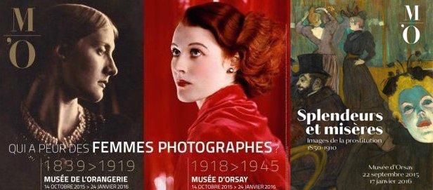 2 posters for Qui a Peur des femmes photographes and Splendeurs et Misères