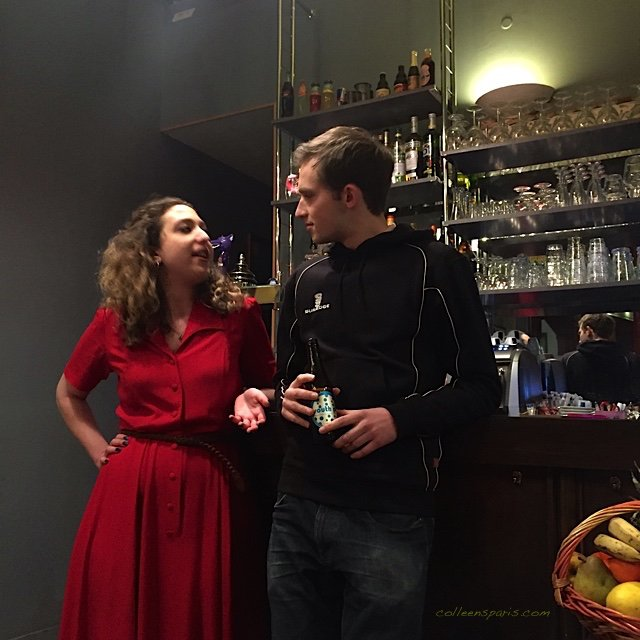 Sam Elwiin as Jordan, Lilac Yosiphon as Hannah cast and crew for There's No Place Like, Café du Theatre, Paris France