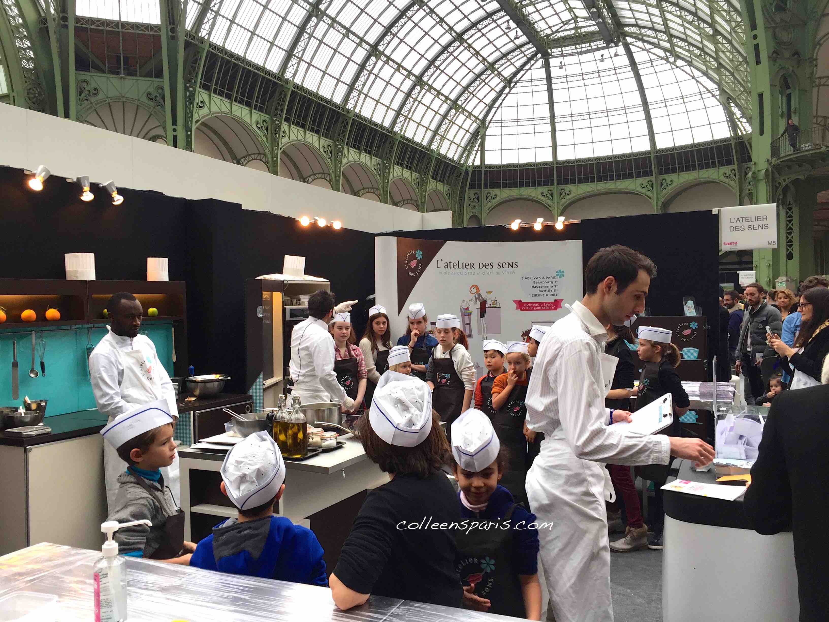 Even the kids get into the cooking class action http://paris.tastefestivals.com/animations/ Taste of Paris Grand Palais