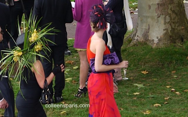 Hats at Longchamp horse race Qatar Prix Arc de Triomphe Paris