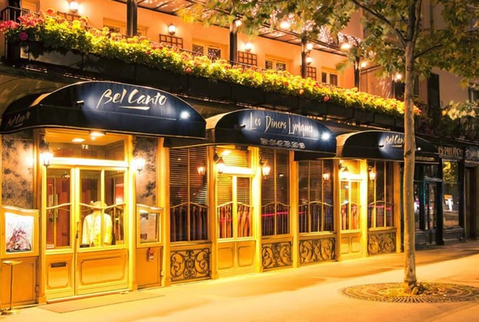 Exterior of Bel Canto restaurant sent to me by J. Christina @ www.scribblesandsmiles.net