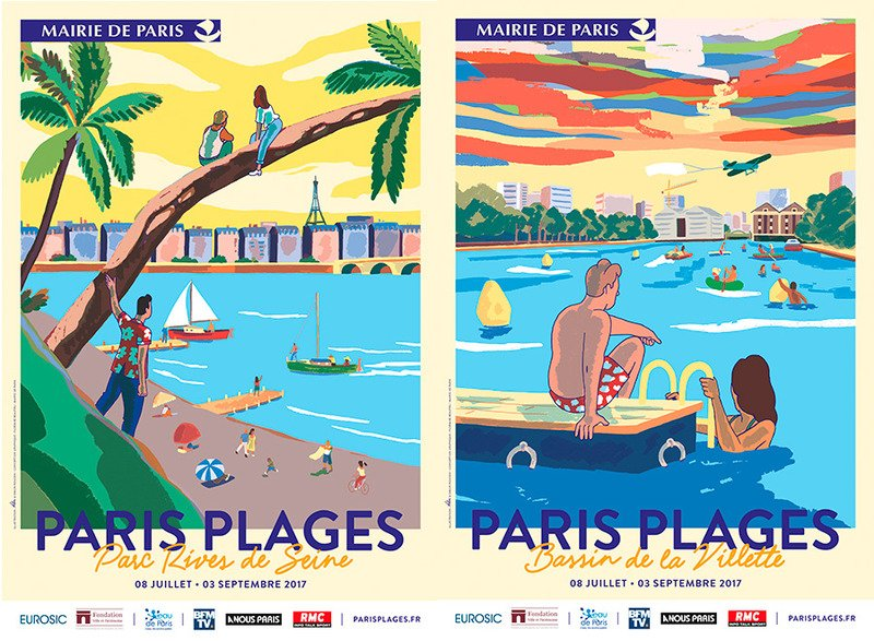Images of Paris Plages 2017 posters