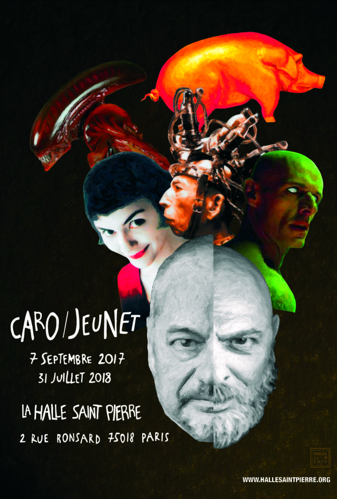 Poster for Caro/Jeunet exhibit at Halle Saint Pierre Montmartre until July 31, 2018
