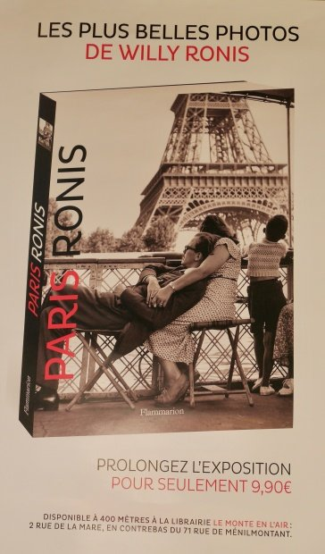 Willy Ronis exhibition Photo album in English and French for sale at exhibition