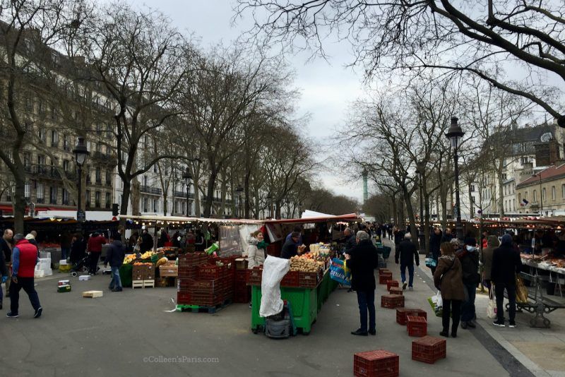 image of the market last day open March 22 Marché Bastille
