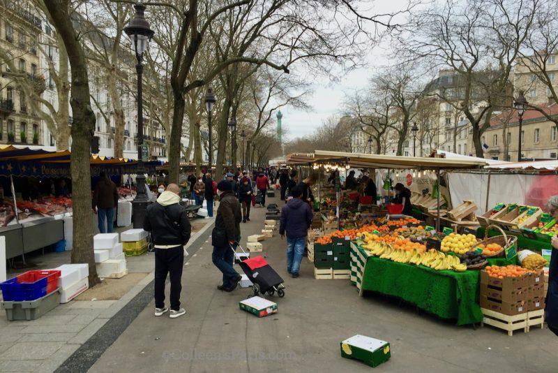 image of the market last day open March 22 Marché Bastille - Boulevard Richard Lenoir