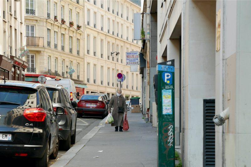 image of lady returning from the market Lenoir Bastille