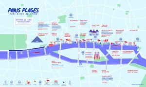 Map of Paris Plages Parc Rives de Seine Right Bank 2020